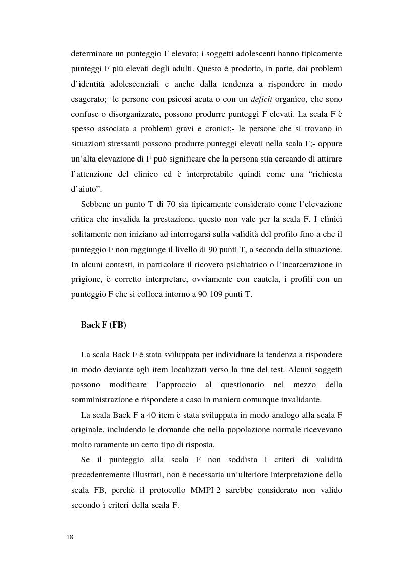 Anteprima della tesi: La validità del MMPI, MMPI-2 e MMPI-A rispetto ai disturbi classificati secondo il DSM-IV: una rassegna, Pagina 15