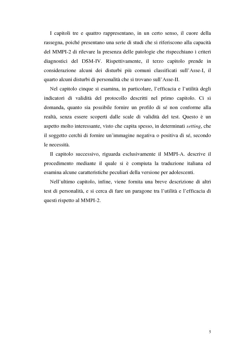 Anteprima della tesi: La validità del MMPI, MMPI-2 e MMPI-A rispetto ai disturbi classificati secondo il DSM-IV: una rassegna, Pagina 2