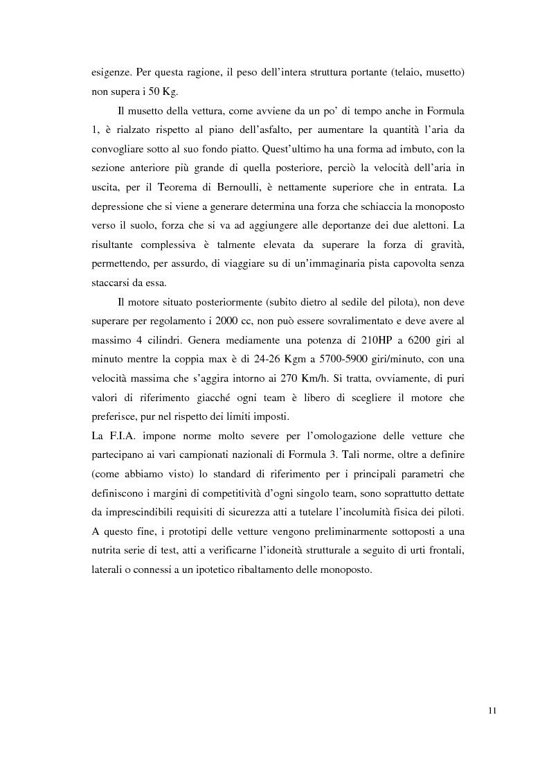 Anteprima della tesi: Bilancia estensimetrica sull'ala anteriore di una vettura di Formula 3, Pagina 11