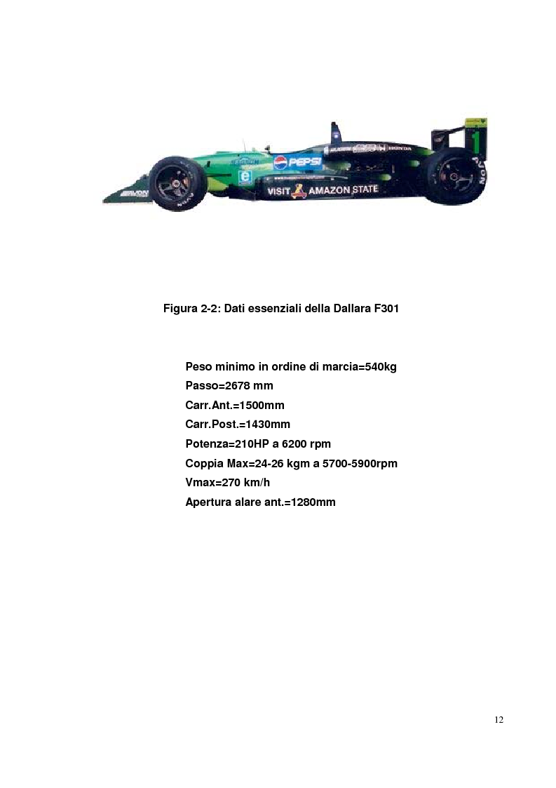 Anteprima della tesi: Bilancia estensimetrica sull'ala anteriore di una vettura di Formula 3, Pagina 12
