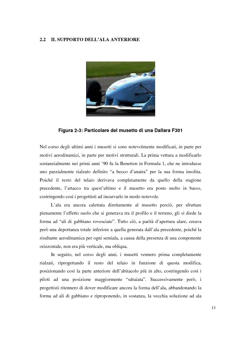Anteprima della tesi: Bilancia estensimetrica sull'ala anteriore di una vettura di Formula 3, Pagina 13