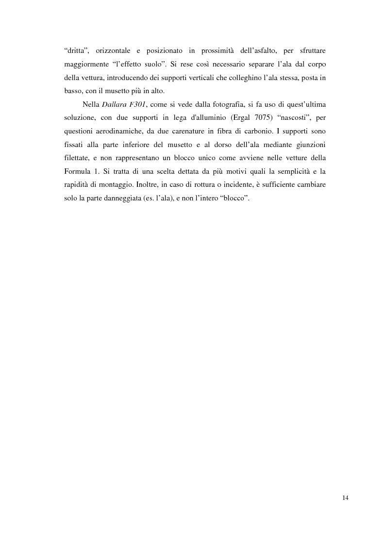 Anteprima della tesi: Bilancia estensimetrica sull'ala anteriore di una vettura di Formula 3, Pagina 14