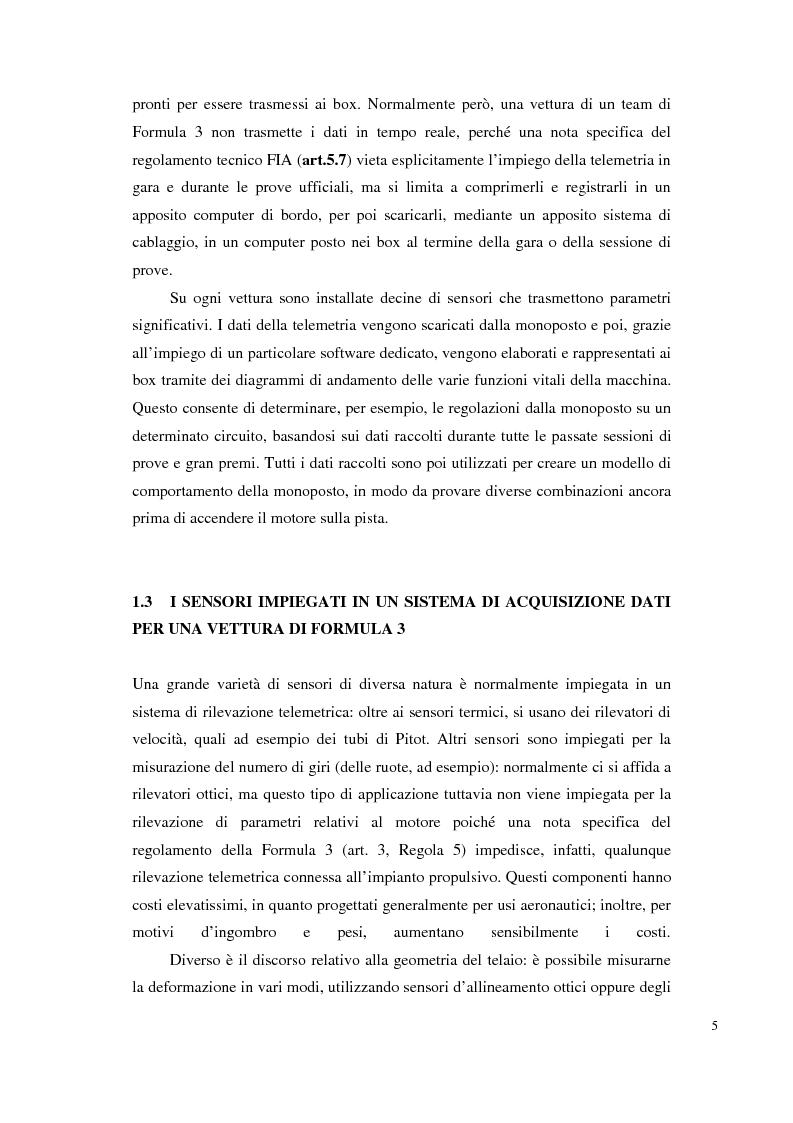 Anteprima della tesi: Bilancia estensimetrica sull'ala anteriore di una vettura di Formula 3, Pagina 5