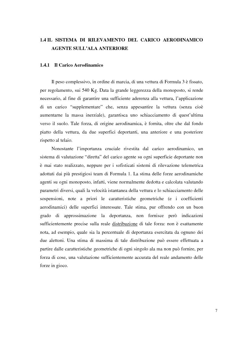 Anteprima della tesi: Bilancia estensimetrica sull'ala anteriore di una vettura di Formula 3, Pagina 7