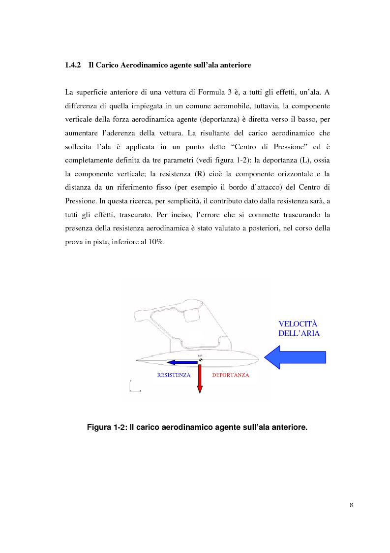 Anteprima della tesi: Bilancia estensimetrica sull'ala anteriore di una vettura di Formula 3, Pagina 8