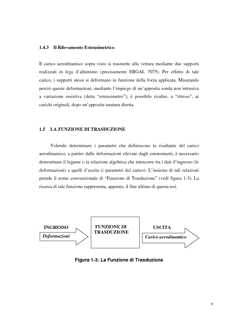 Anteprima della tesi: Bilancia estensimetrica sull'ala anteriore di una vettura di Formula 3, Pagina 9