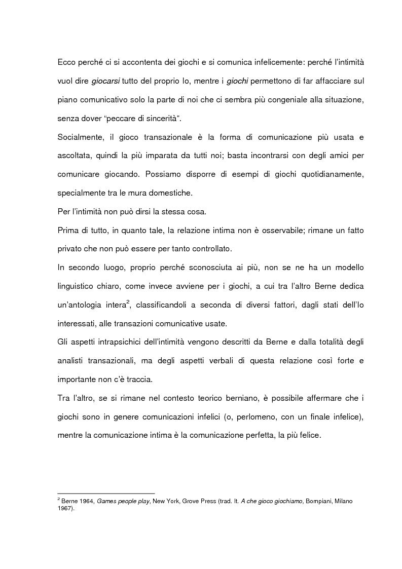 Anteprima della tesi: La comunicazione intima: un metodo di formazione al dialogo felice, Pagina 3