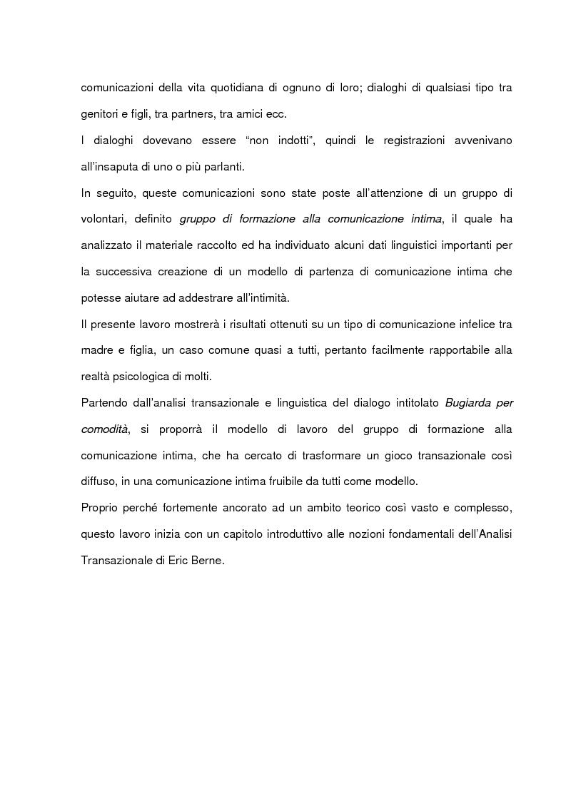 Anteprima della tesi: La comunicazione intima: un metodo di formazione al dialogo felice, Pagina 5