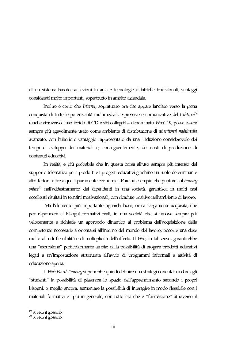 Anteprima della tesi: Teorie, modelli e sviluppi del mercato a livello internazionale e nazionale riguardanti processi di e-learning, Pagina 10