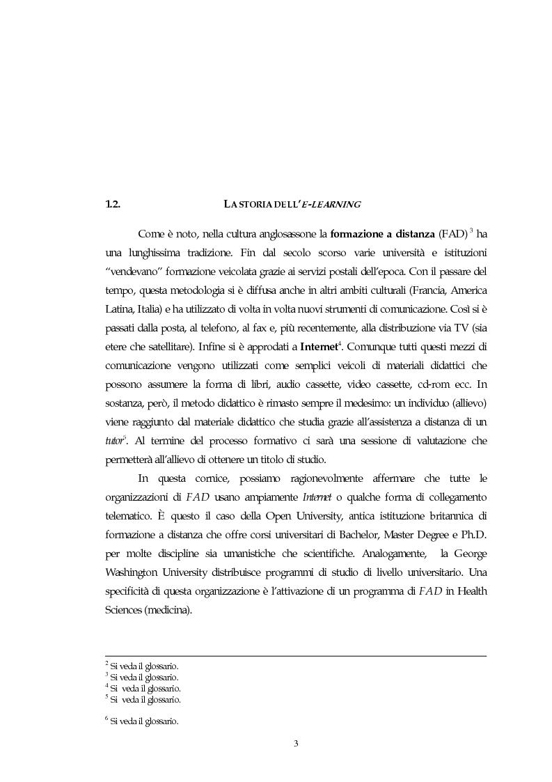 Anteprima della tesi: Teorie, modelli e sviluppi del mercato a livello internazionale e nazionale riguardanti processi di e-learning, Pagina 3