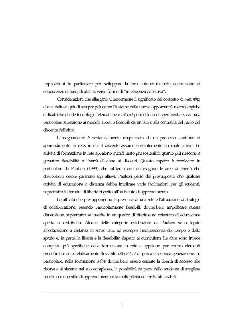 Anteprima della tesi: Teorie, modelli e sviluppi del mercato a livello internazionale e nazionale riguardanti processi di e-learning, Pagina 7