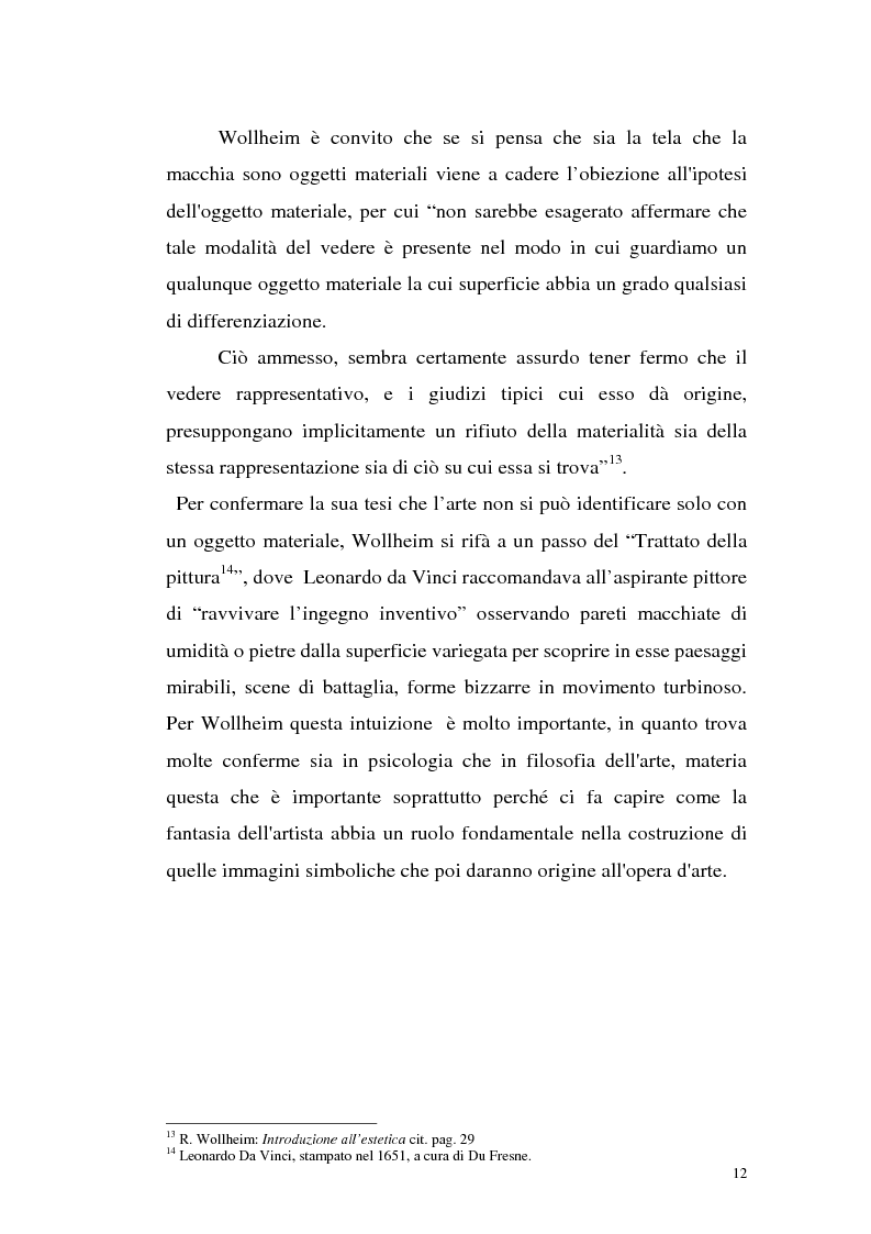 Anteprima della tesi: Il pensiero estetico di R. Wollheim, Pagina 12