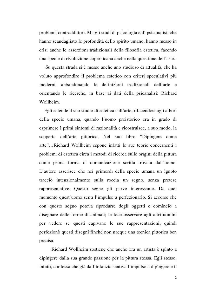 Anteprima della tesi: Il pensiero estetico di R. Wollheim, Pagina 2