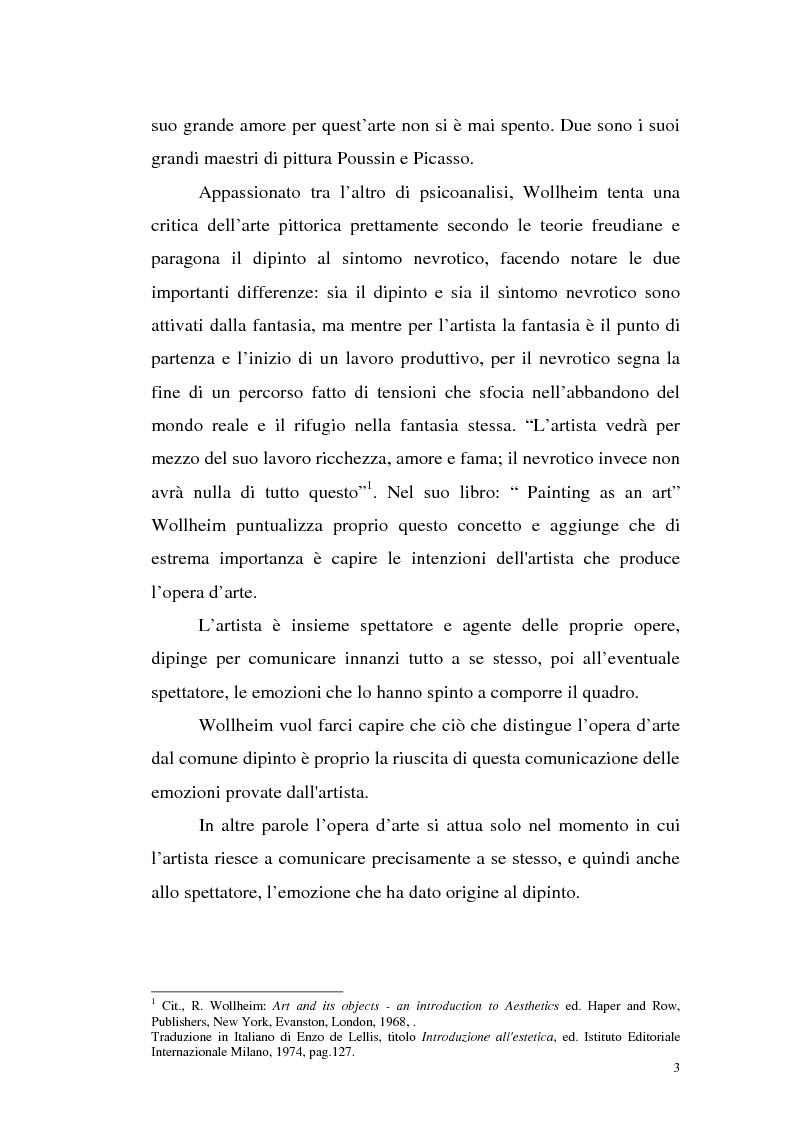 Anteprima della tesi: Il pensiero estetico di R. Wollheim, Pagina 3