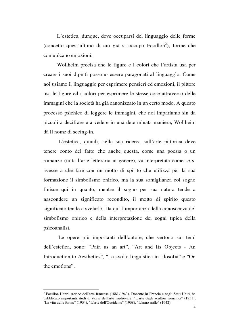 Anteprima della tesi: Il pensiero estetico di R. Wollheim, Pagina 4