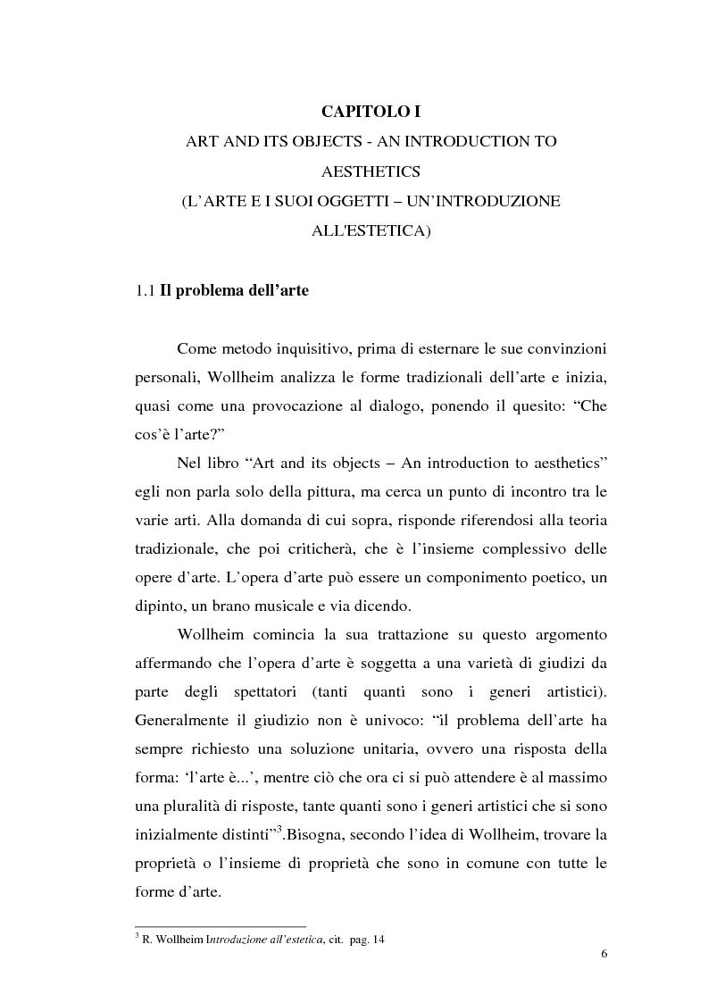 Anteprima della tesi: Il pensiero estetico di R. Wollheim, Pagina 6