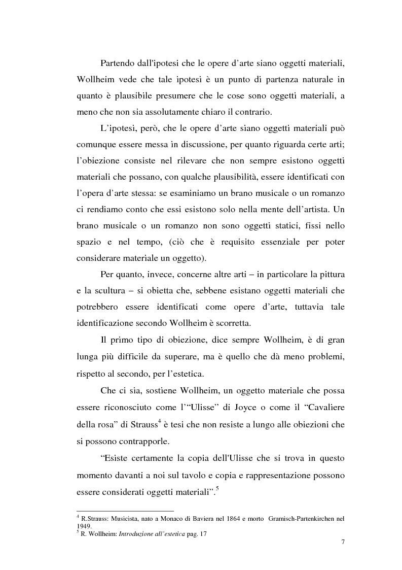Anteprima della tesi: Il pensiero estetico di R. Wollheim, Pagina 7