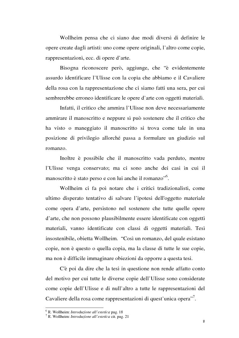 Anteprima della tesi: Il pensiero estetico di R. Wollheim, Pagina 8