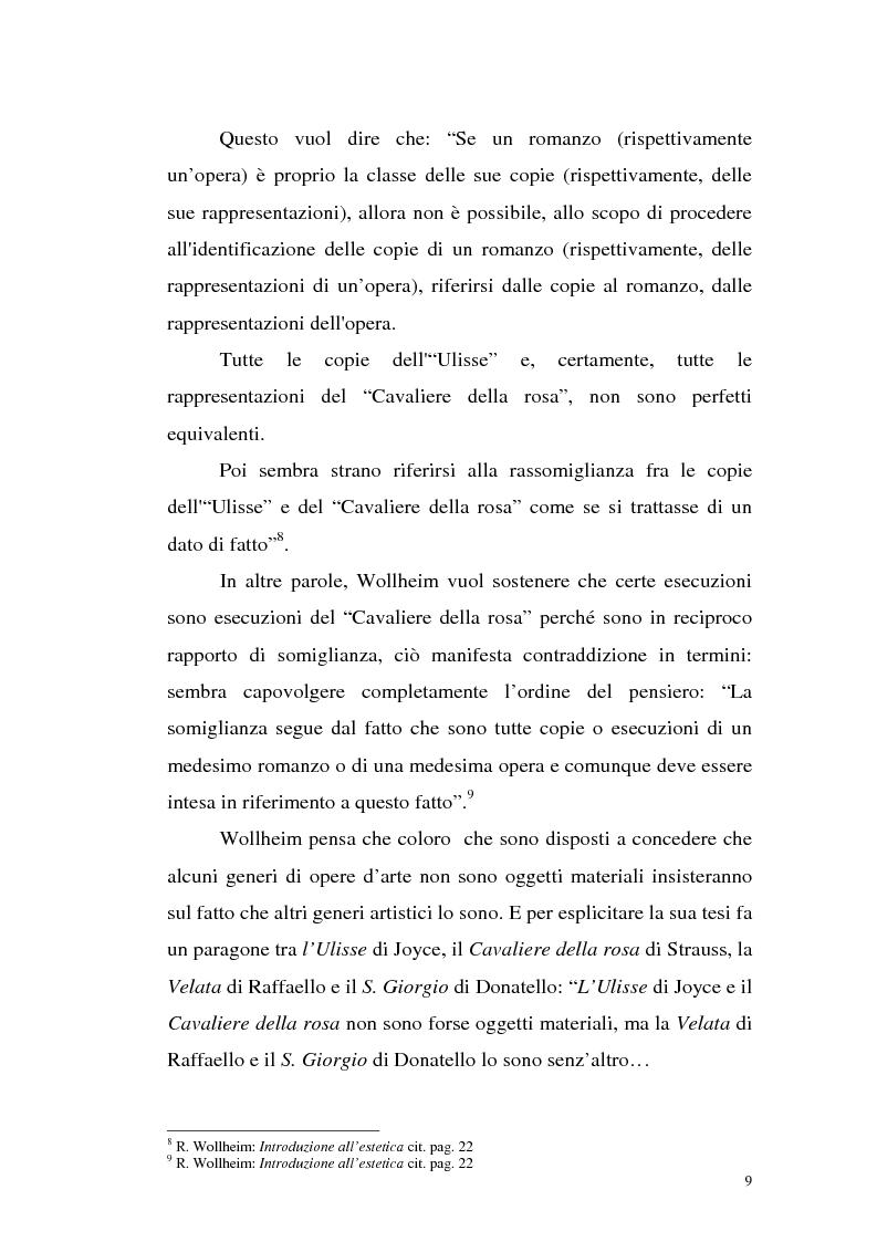 Anteprima della tesi: Il pensiero estetico di R. Wollheim, Pagina 9
