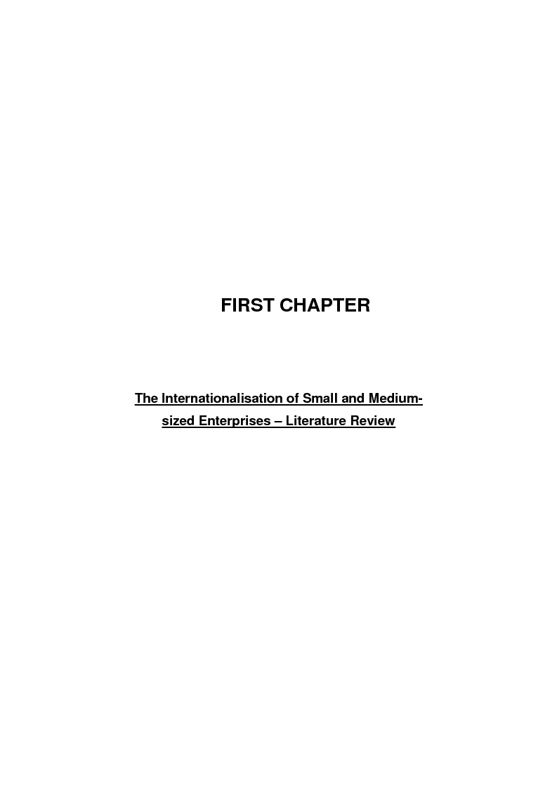 Anteprima della tesi: The process of internationalisation of small and medium sized enterprises: the Italian case of the 'Consortium to promote exports' and the existing instruments for Welsh small companies, Pagina 4