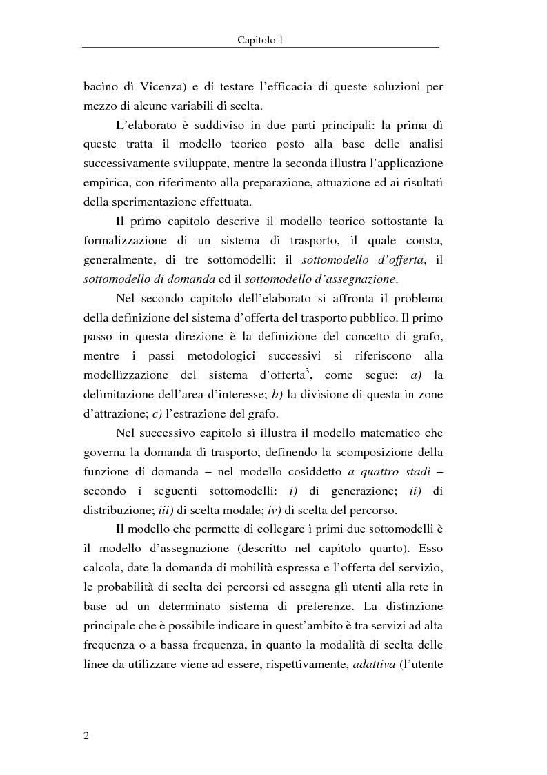 Anteprima della tesi: Costruzione di scenari per il trasporto pubblico nel Vicentino, Pagina 2