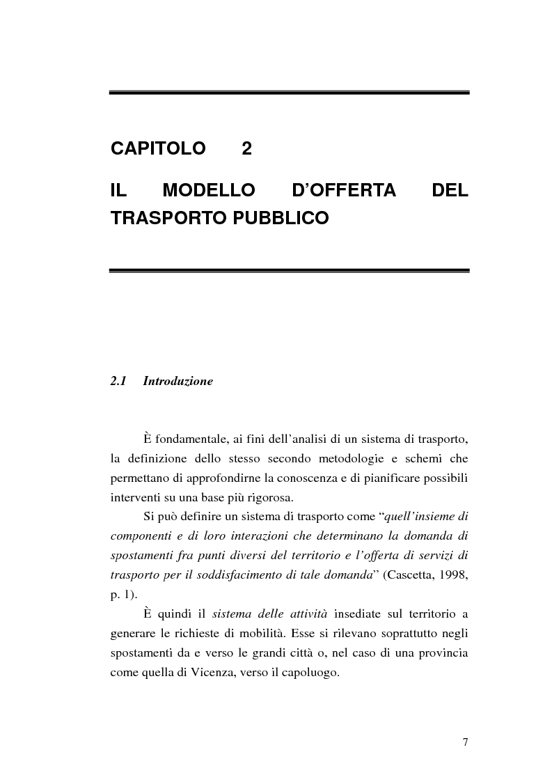 Anteprima della tesi: Costruzione di scenari per il trasporto pubblico nel Vicentino, Pagina 5