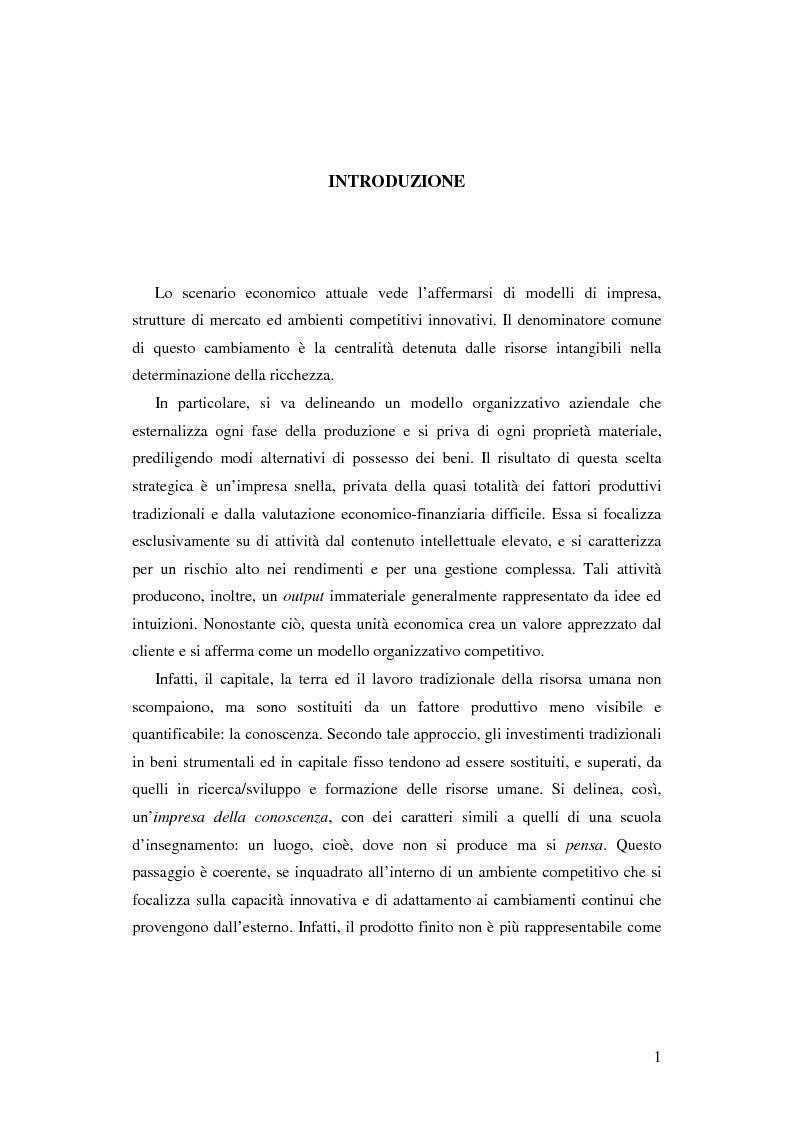 Anteprima della tesi: Le nuove determinanti dell'organizzazione aziendale: il modello Knowledge Management, Pagina 1