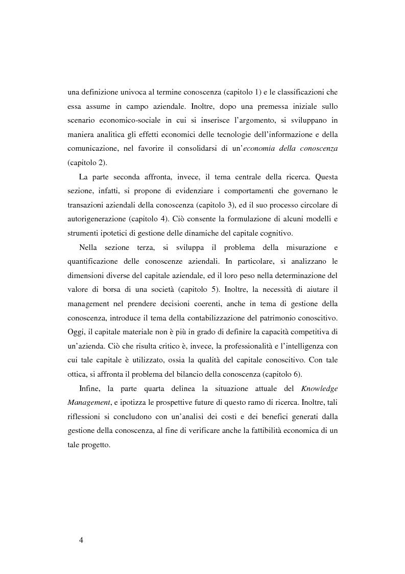 Anteprima della tesi: Le nuove determinanti dell'organizzazione aziendale: il modello Knowledge Management, Pagina 4