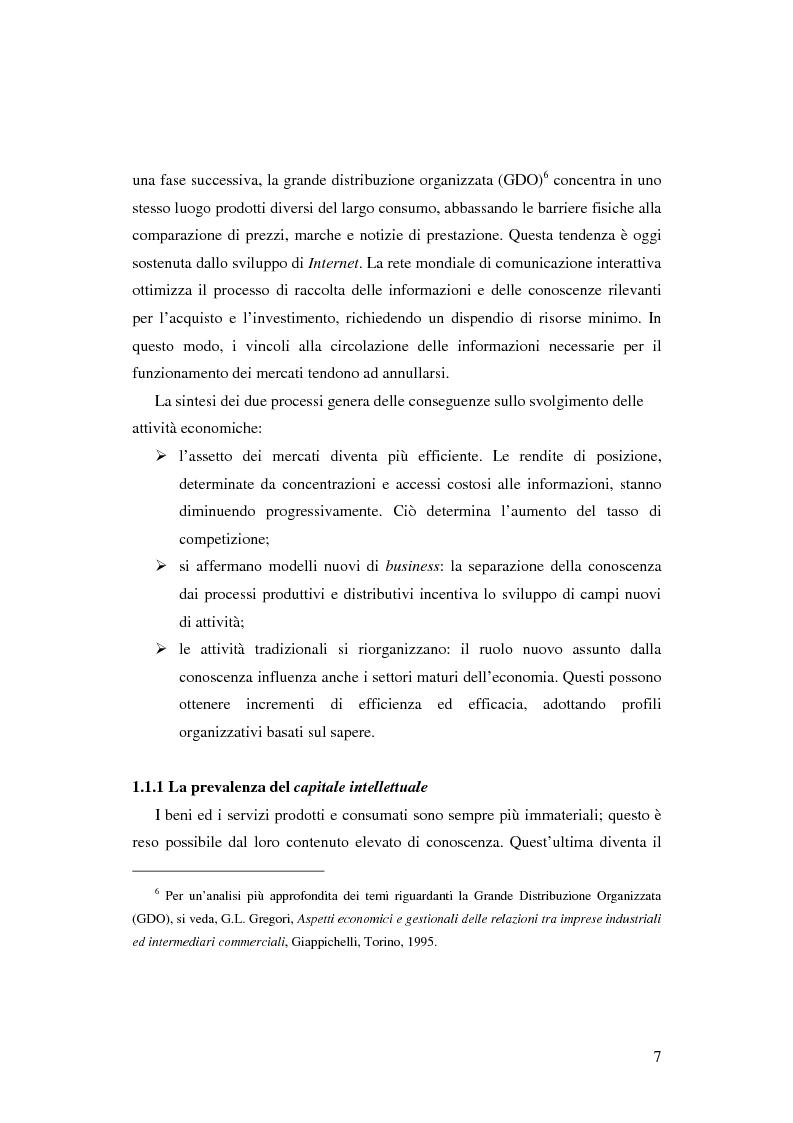 Anteprima della tesi: Le nuove determinanti dell'organizzazione aziendale: il modello Knowledge Management, Pagina 7