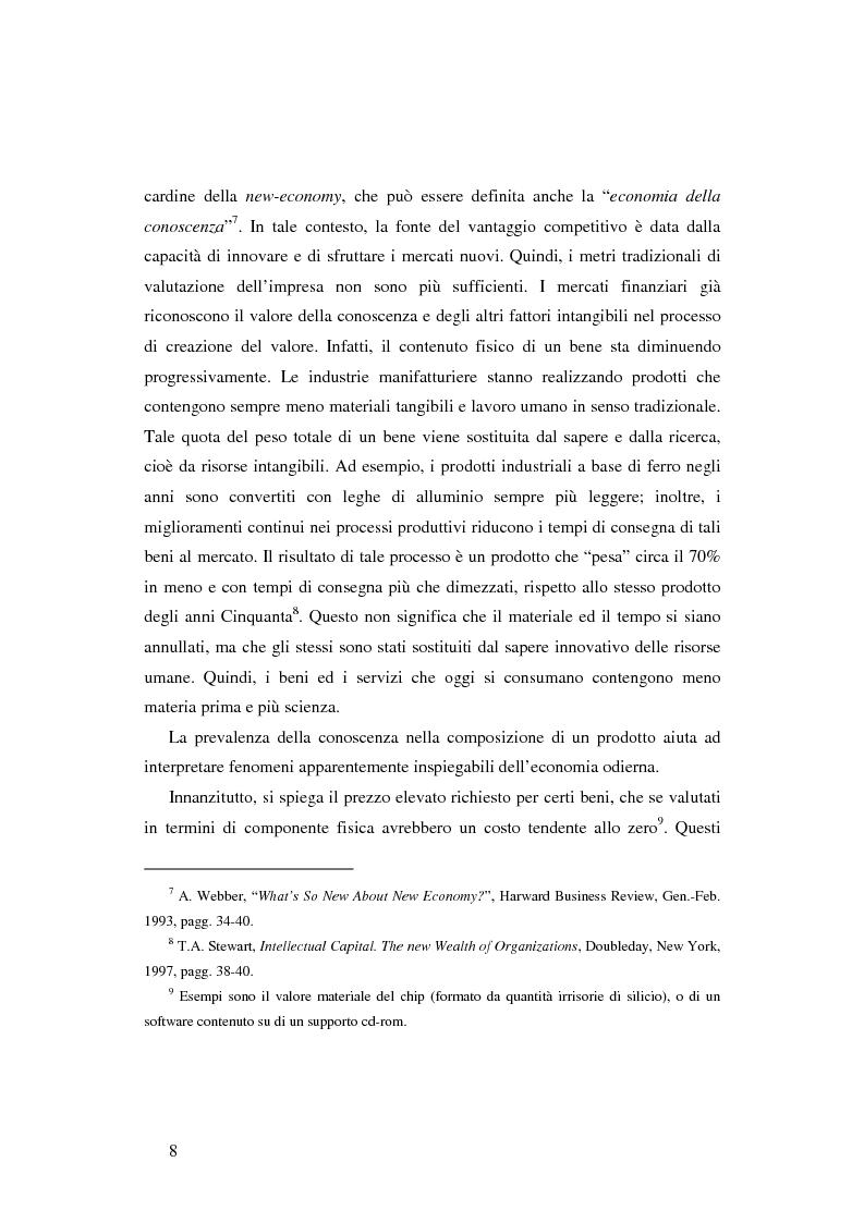 Anteprima della tesi: Le nuove determinanti dell'organizzazione aziendale: il modello Knowledge Management, Pagina 8