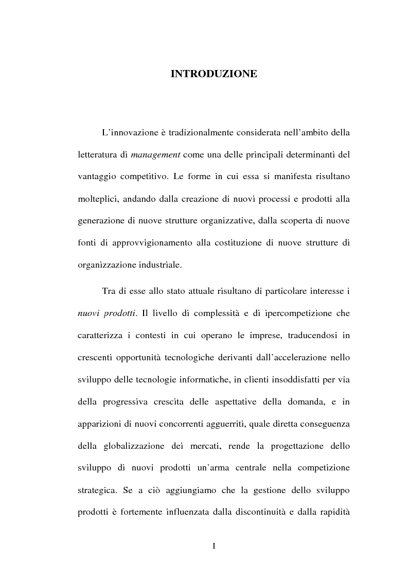 Anteprima della tesi: Lo sviluppo di nuovi prodotti. Il caso Merloni, Pagina 1
