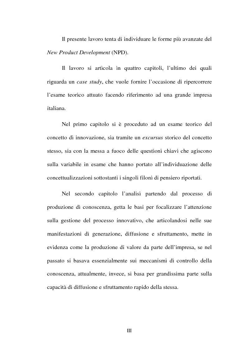 Anteprima della tesi: Lo sviluppo di nuovi prodotti. Il caso Merloni, Pagina 3