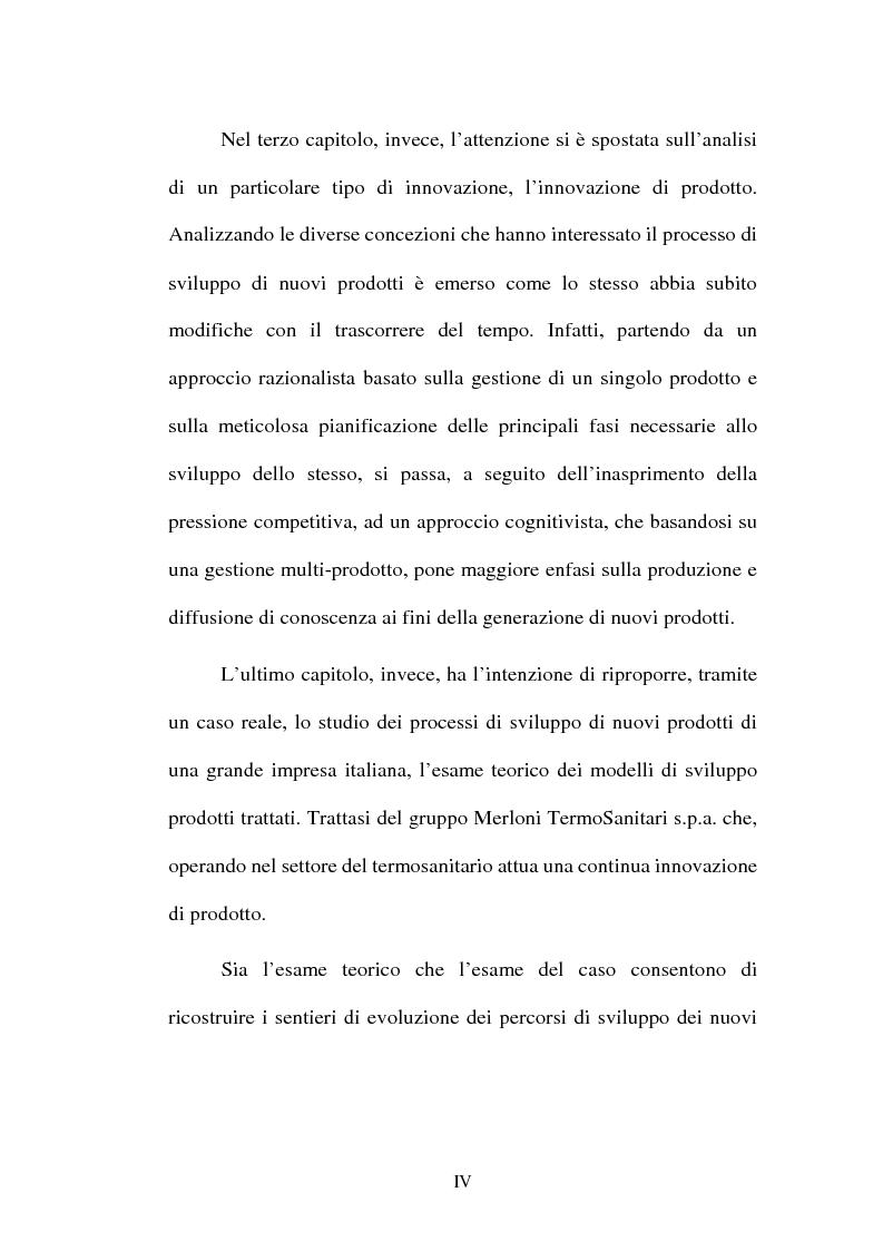 Anteprima della tesi: Lo sviluppo di nuovi prodotti. Il caso Merloni, Pagina 4
