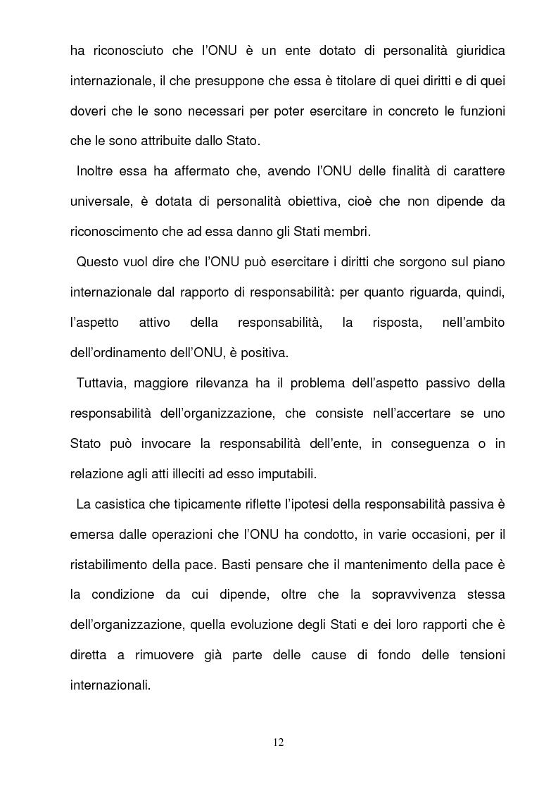 Anteprima della tesi: La responsabilità per gli illeciti delle organizzazioni internazionali, Pagina 12