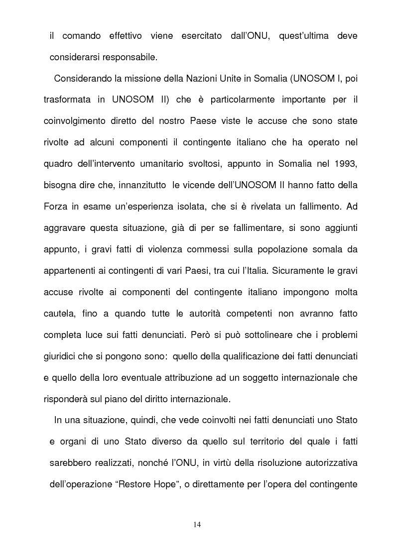 Anteprima della tesi: La responsabilità per gli illeciti delle organizzazioni internazionali, Pagina 14