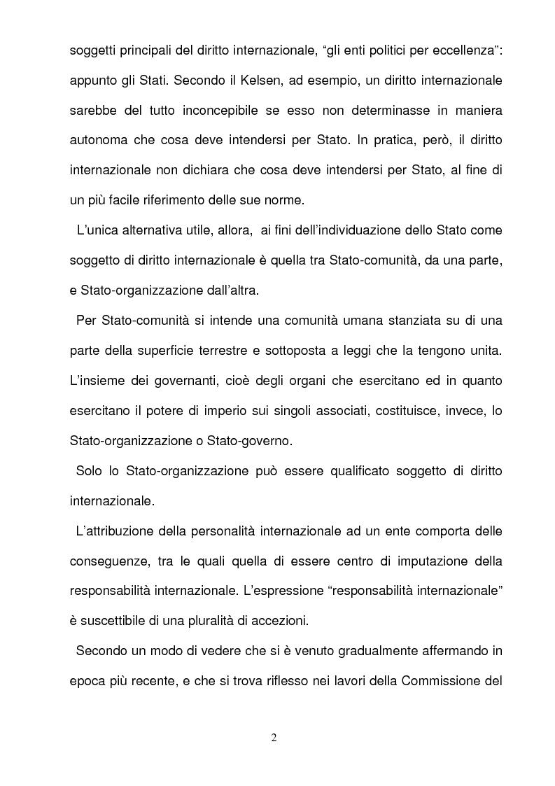 Anteprima della tesi: La responsabilità per gli illeciti delle organizzazioni internazionali, Pagina 2