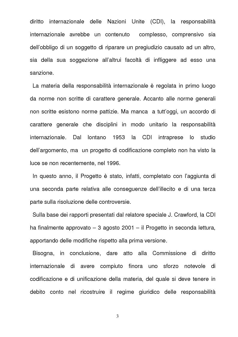 Anteprima della tesi: La responsabilità per gli illeciti delle organizzazioni internazionali, Pagina 3
