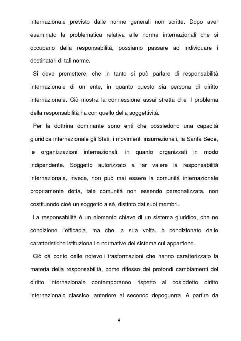 Anteprima della tesi: La responsabilità per gli illeciti delle organizzazioni internazionali, Pagina 4