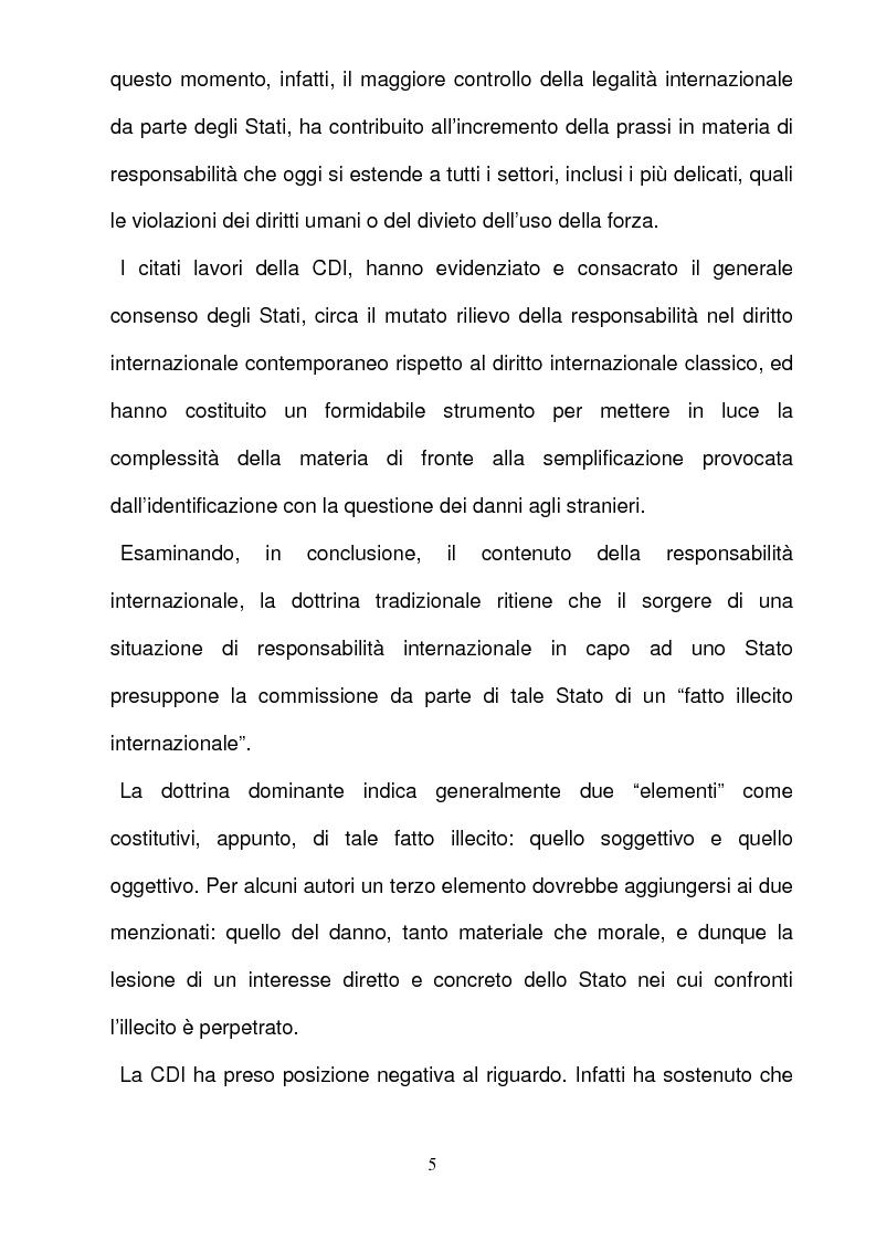 Anteprima della tesi: La responsabilità per gli illeciti delle organizzazioni internazionali, Pagina 5