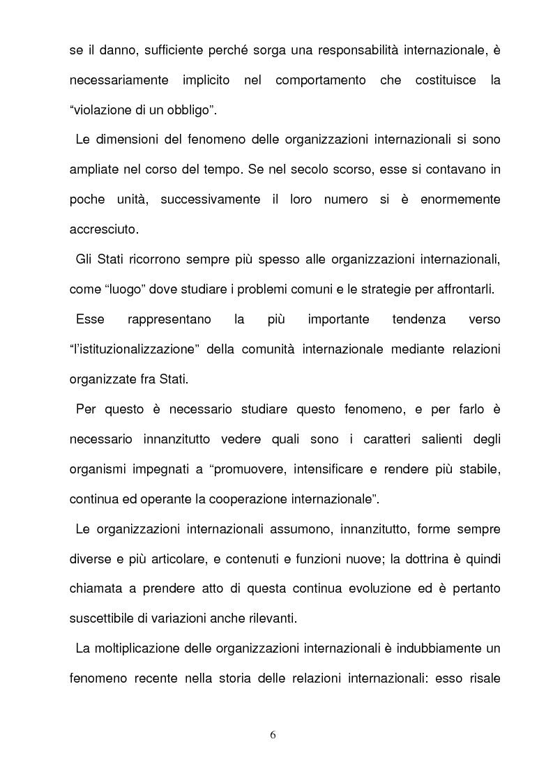 Anteprima della tesi: La responsabilità per gli illeciti delle organizzazioni internazionali, Pagina 6