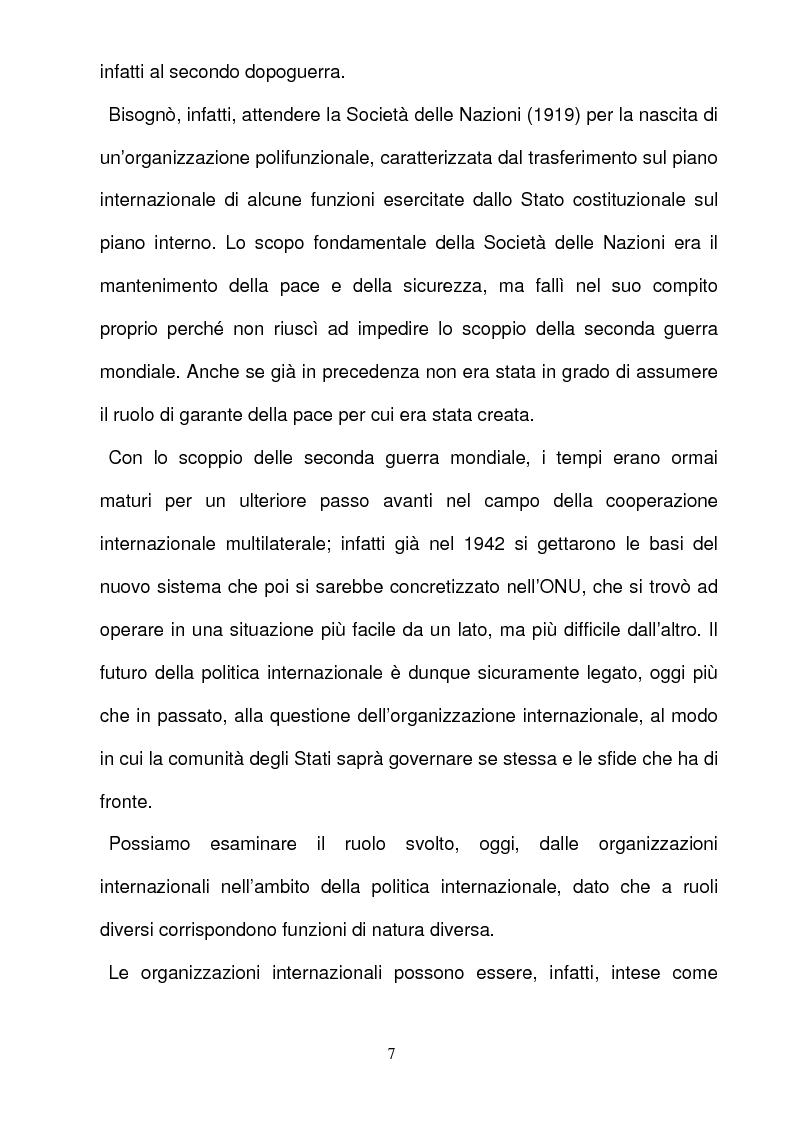 Anteprima della tesi: La responsabilità per gli illeciti delle organizzazioni internazionali, Pagina 7