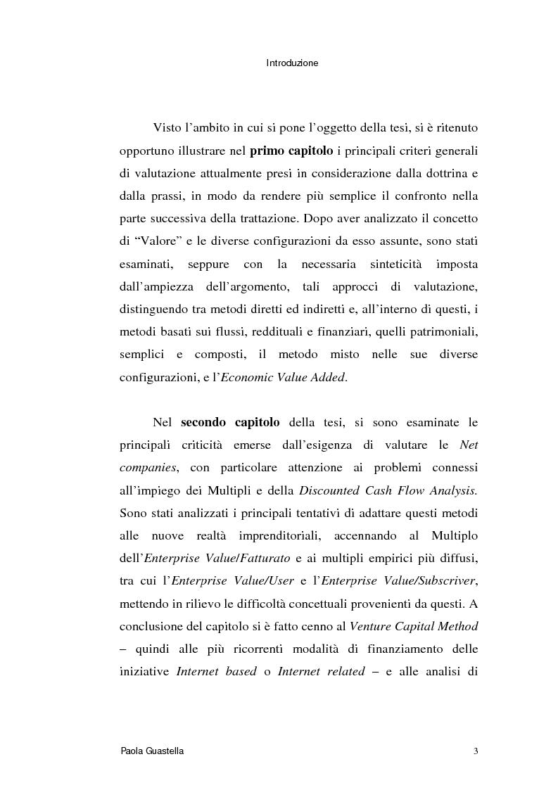 Anteprima della tesi: Le opzioni reali: un approccio per la valutazione di aziende che operano in contesti di elevata incertezza, Pagina 3