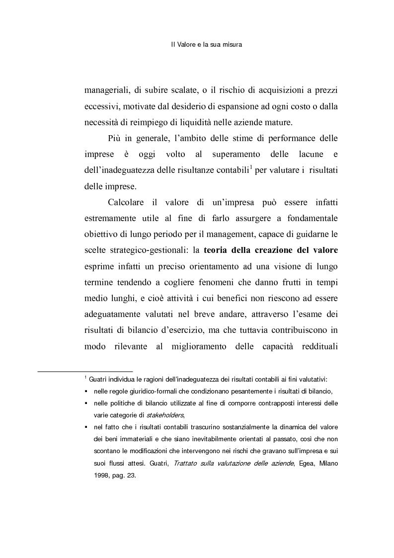 Anteprima della tesi: Le opzioni reali: un approccio per la valutazione di aziende che operano in contesti di elevata incertezza, Pagina 7
