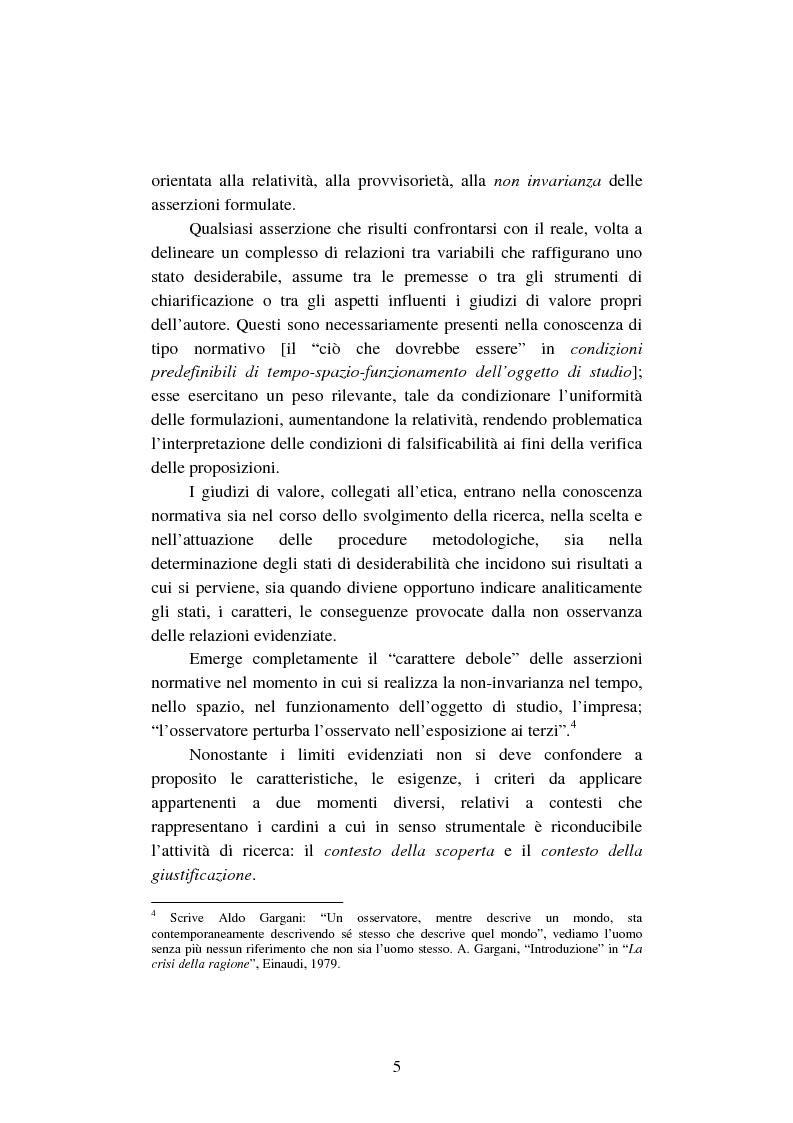 Anteprima della tesi: La creazione e lo sviluppo della conoscenza nell'impresa - L'informazione come risorsa strategica - Note metodologiche, Pagina 10