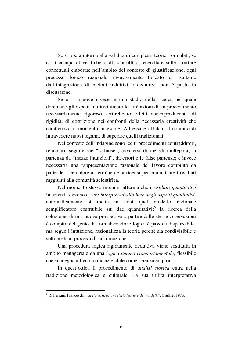 Anteprima della tesi: La creazione e lo sviluppo della conoscenza nell'impresa - L'informazione come risorsa strategica - Note metodologiche, Pagina 11