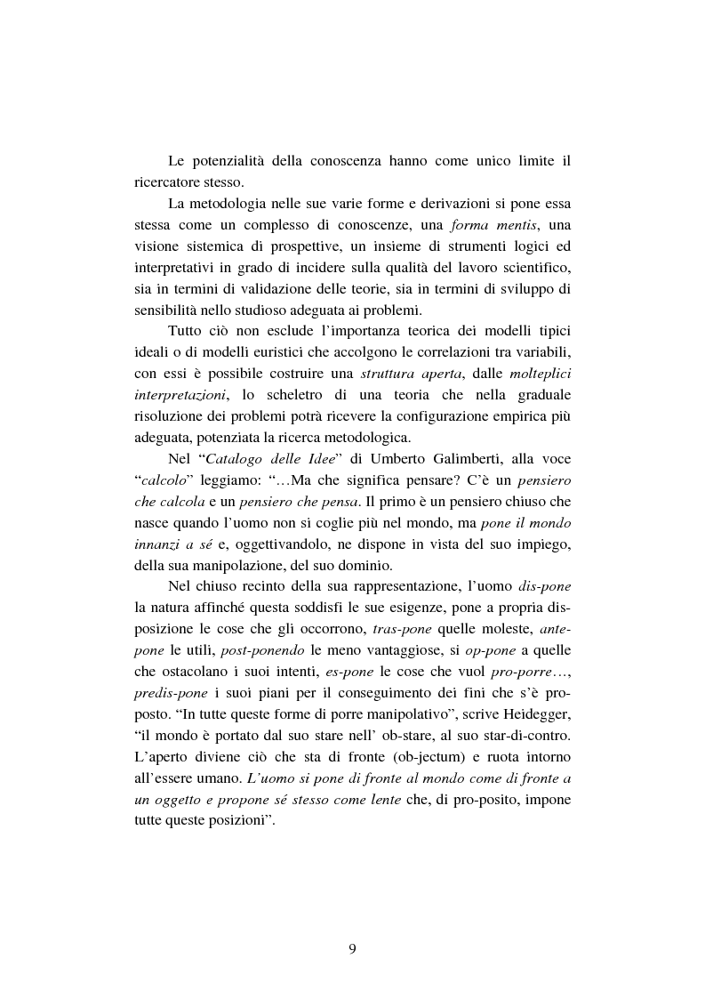 Anteprima della tesi: La creazione e lo sviluppo della conoscenza nell'impresa - L'informazione come risorsa strategica - Note metodologiche, Pagina 14