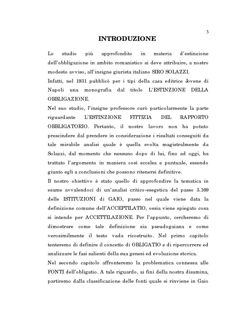Anteprima della tesi: L'estinzione fittizia del rapporto obbligatorio, Pagina 1