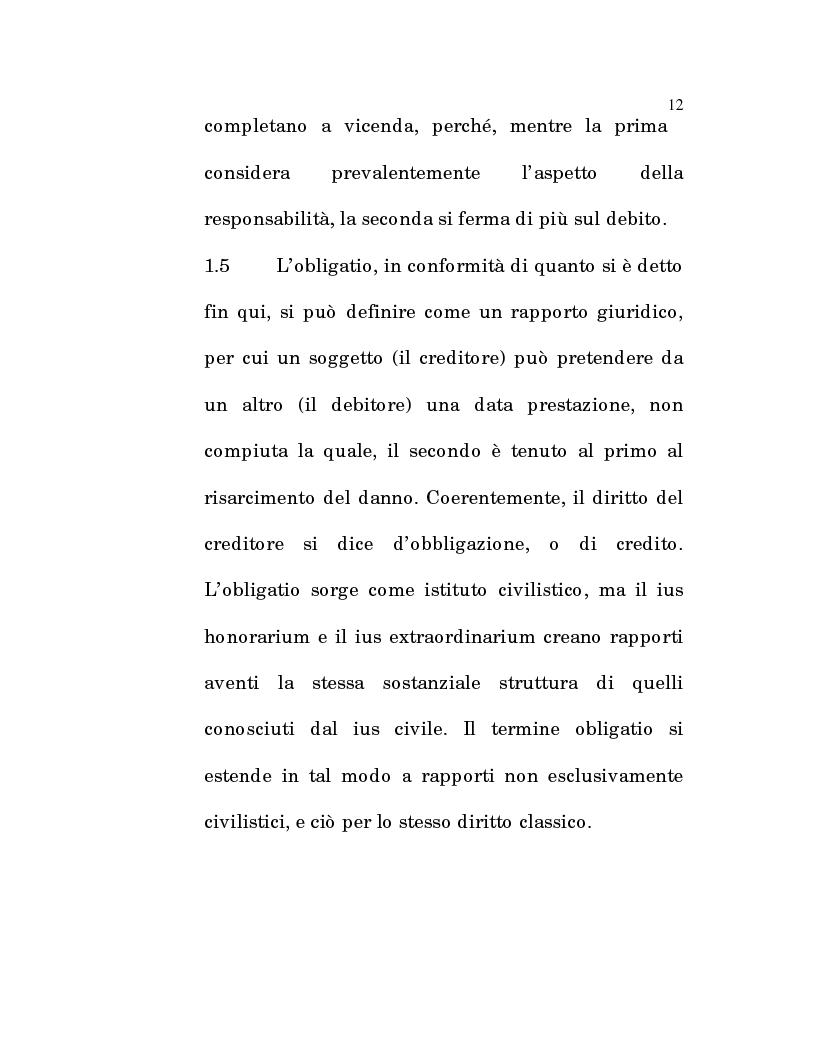 Anteprima della tesi: L'estinzione fittizia del rapporto obbligatorio, Pagina 10