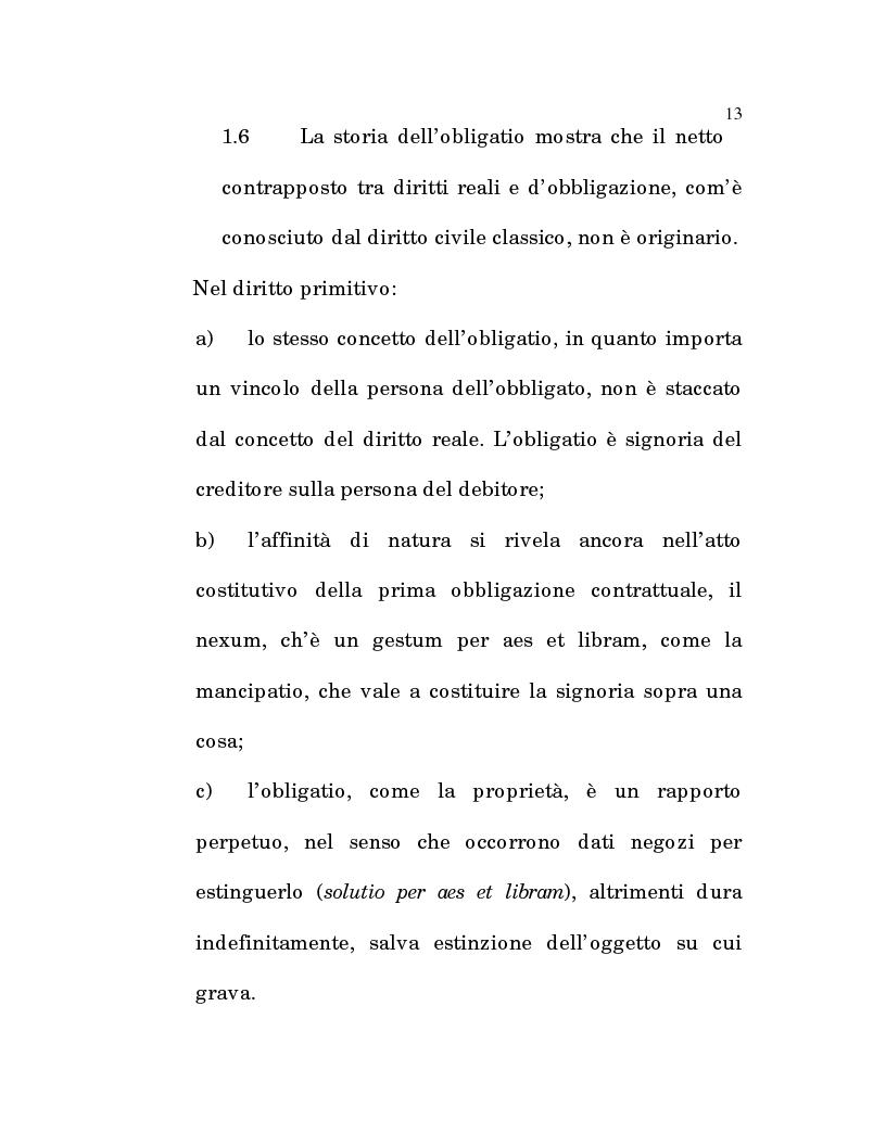 Anteprima della tesi: L'estinzione fittizia del rapporto obbligatorio, Pagina 11