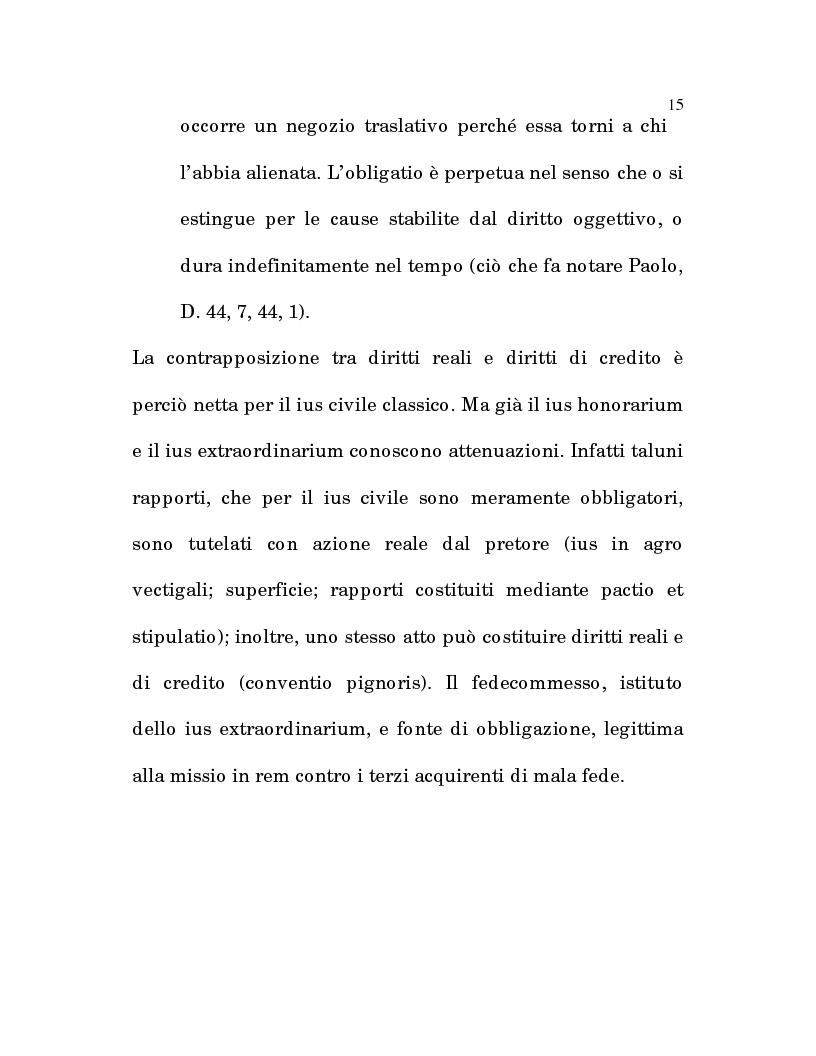Anteprima della tesi: L'estinzione fittizia del rapporto obbligatorio, Pagina 13